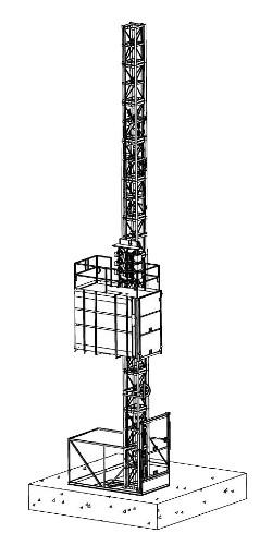 грузовой строительный подъемник