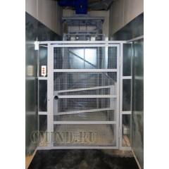 Мачтовый грузовой подъемник CMInd-П2-1000-1000x1200x1000