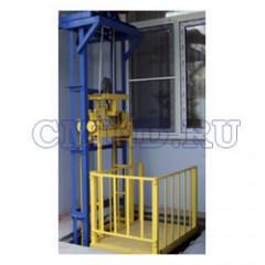 Грузовой мачтовый подъемник CMInd-П2-150-600x900